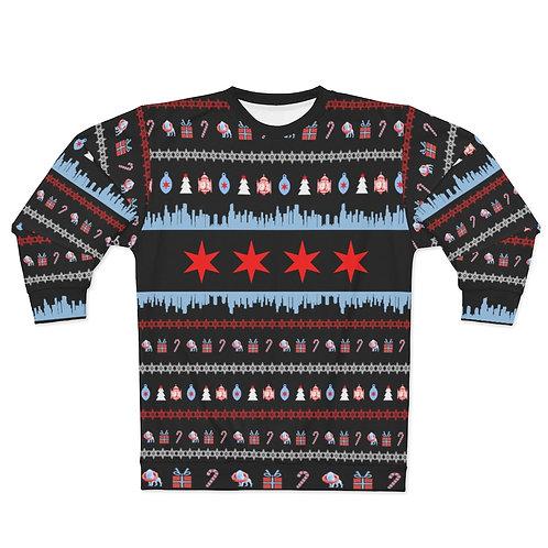 Chicago Ugly Christmas Sweater Unisex Sweatshirt
