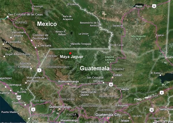 maya jaguar location
