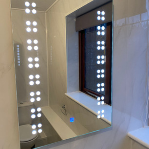 A brand new bathroom mirror