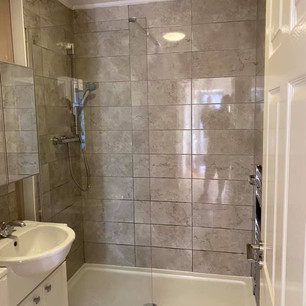 removing a bath to make space for a new shower