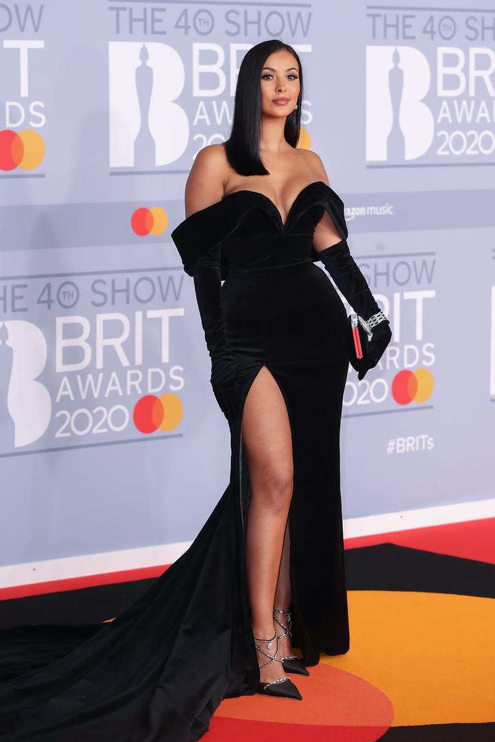 Maya-Jama-on-2020-BRIT-Awards-Red-Carpet