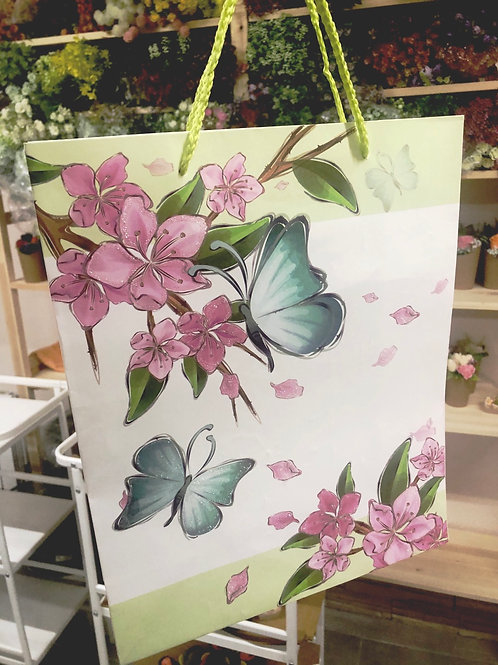 Пакет подарочный «Бабочки»