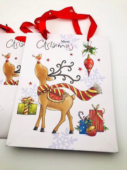 "Пакет ""Merry Christmas"" с оленем"