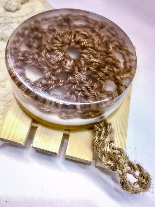 Мыло на джутовой веревочке