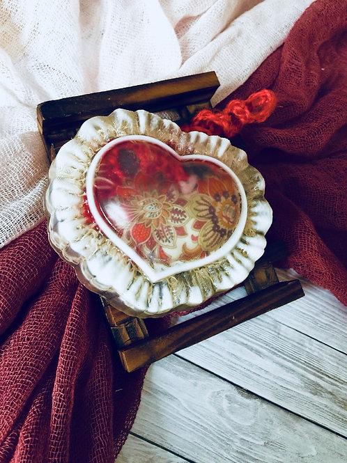 «Сердце Мальвины» мыло с джутовой мочалкой