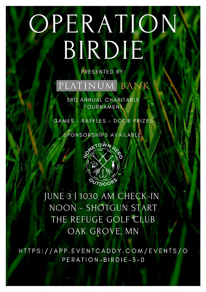 Green Grass Photo Golf Tournament Poster