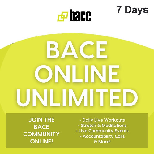 BACE ONLINE UNLIMITED - 7 Days