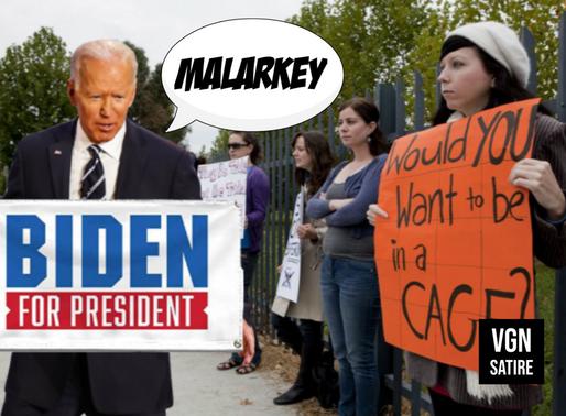 "Animal rights activists interrupted by ""militant"" Joe Biden"