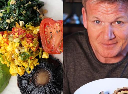 Gordon Ramsay lays tofu egg—social media users ask is it vegan?