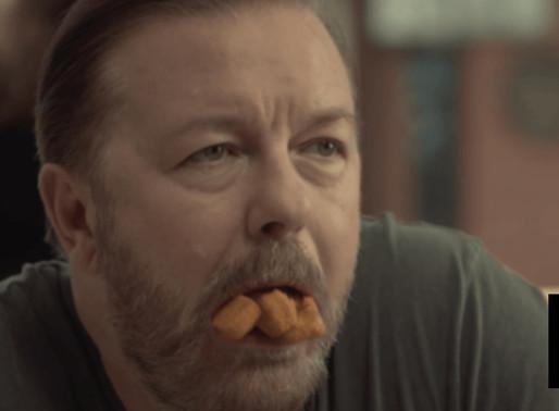 Ricky Gervais eats vegan fish fingers in hit Netflix show, none left for actual vegans