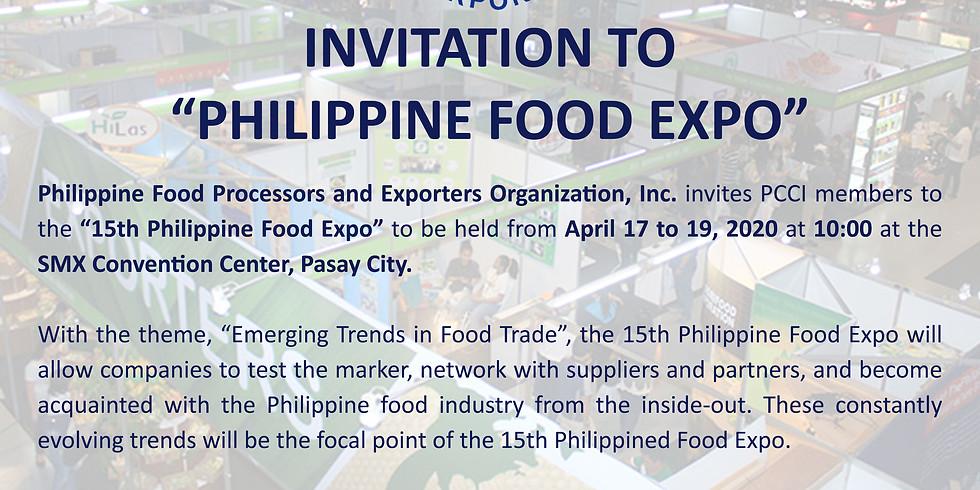 15th Philippine Food Expo