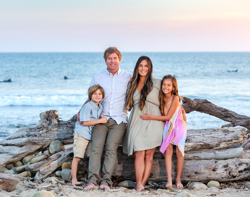 Family photo session at Surfer's Point, Ventura.