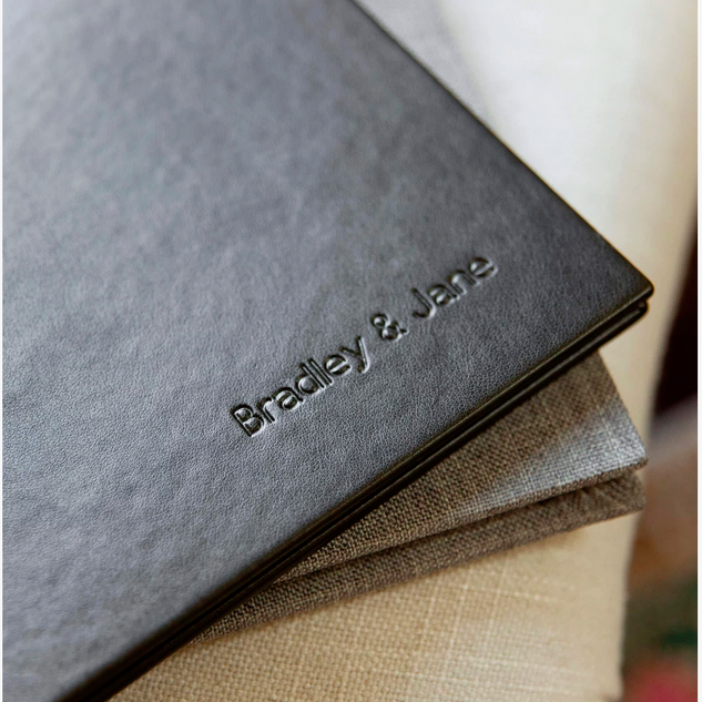 Heirloom Albums in Eco-leather & Natural Linen
