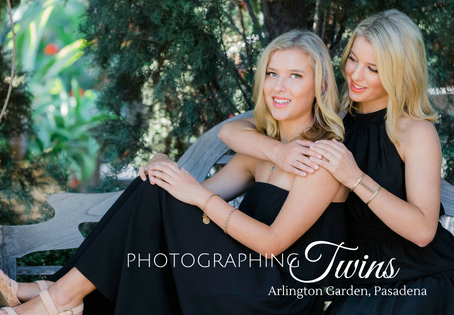 K & M: Twins Session at Arlington Garden, Pasadena