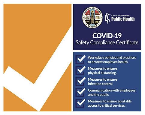 COVID-19 Comolaince Certificate