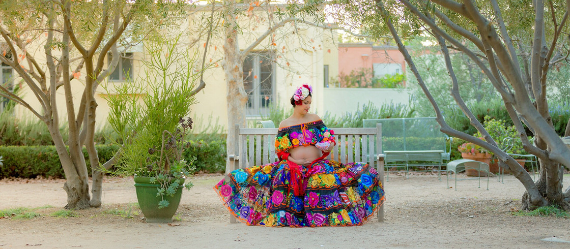 Modern Mexican Maternity Portrait