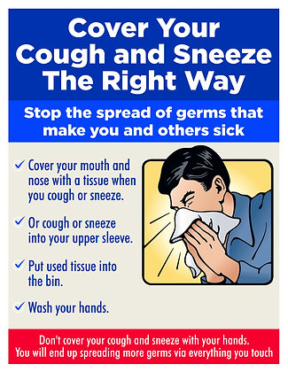 Covid Sign - Sneezing