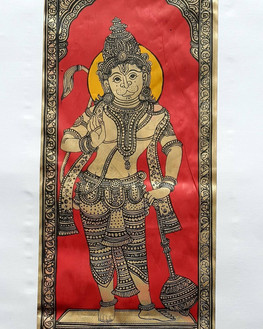 Pattachitra on Tussar