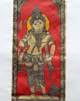 Pattachitra on Tussar