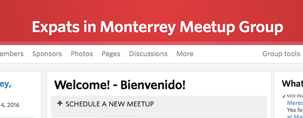 expats in monterrey meet up group