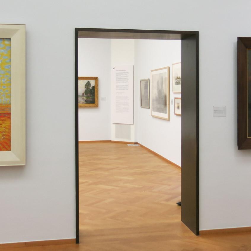 Right: Piet Mondrian [1872-1944] Mill; Mill in sunlight, 1908 Left: Oostzijdse windmill by moonlight c.1907