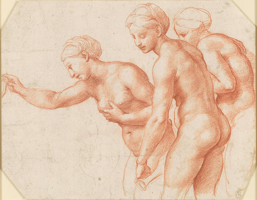 Raphael drawing of The Three Graces