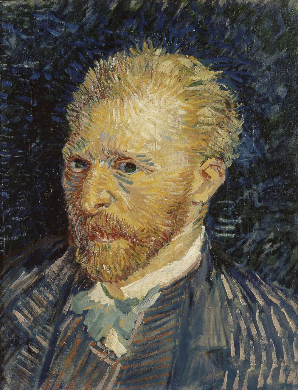 Self portrait by Vincent Van Gogh in 1887
