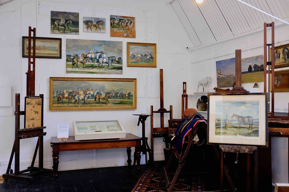 photo of the studio of Alfred Munnings
