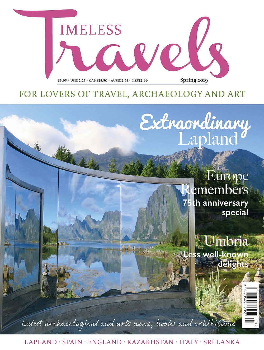 Cover of Spring 2019 issue of Timeless Travels magazine