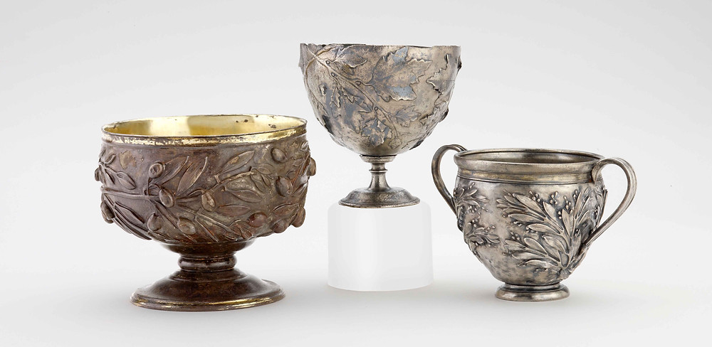Silver cups from Pompeii