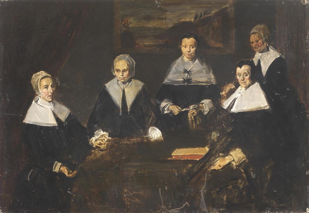 Edouart Manet, Copy of The Regentresses of the Old Men's Almshouse after Frans Hals, 1872.