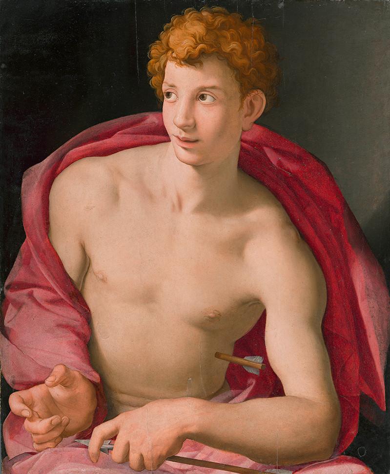 Agnolo Bronzino painting of Saint Sebastian