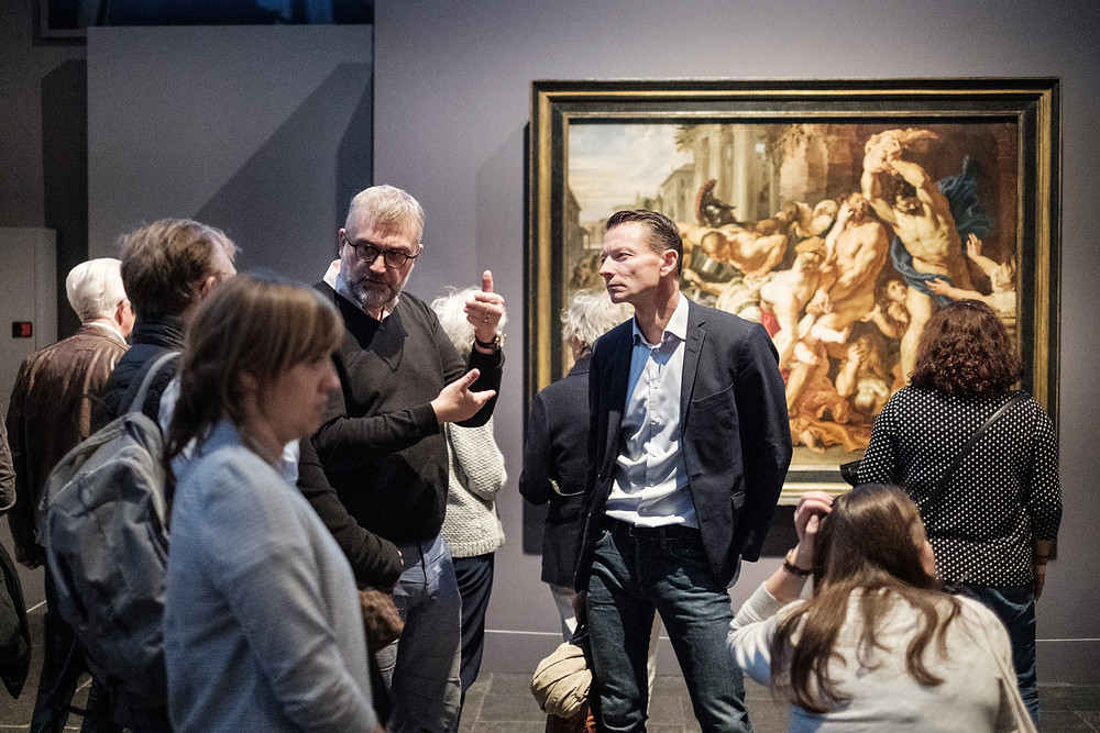 Image showing people in an art gallery