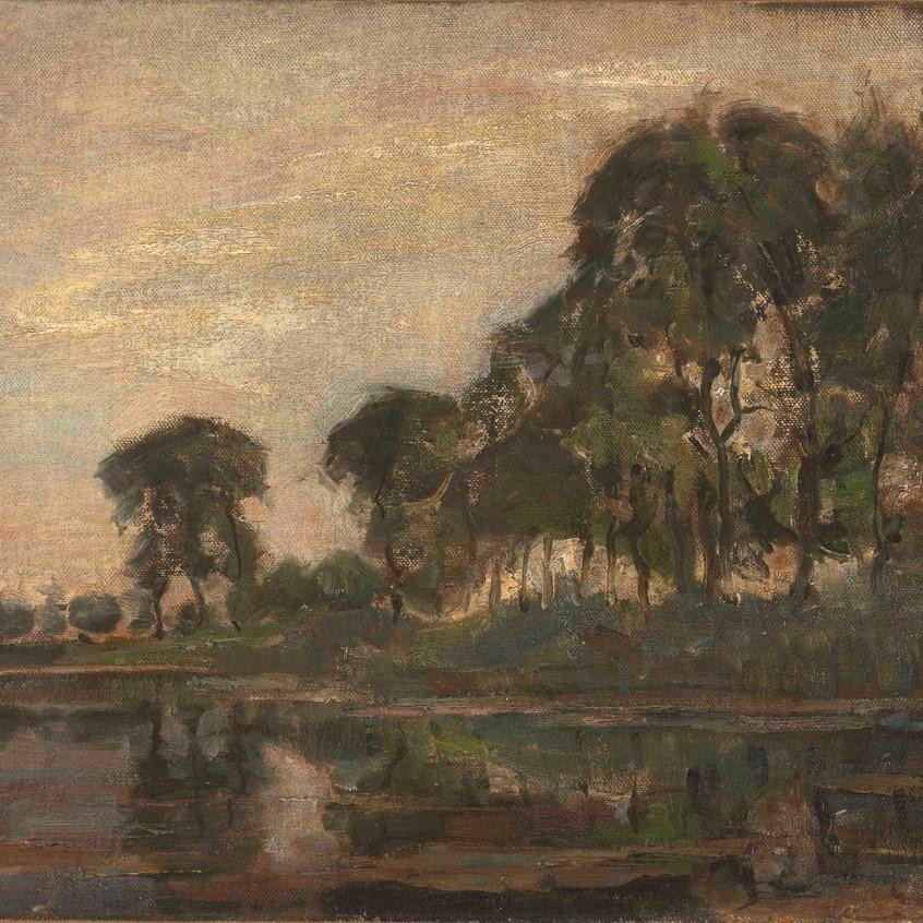 Piet Mondrian [1872-1944] Trees along the Gein, 1905 Oil on canvas 48 x 58 cm Gemeentemuseum Den Haag