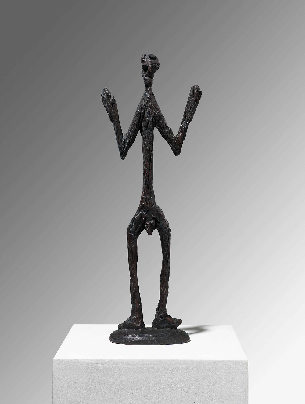 A.R. Penck (1939–2017) Standart-Figure, 1989 Bronze, cast number 3 in an edition of 6 58 x 17 x 9 cm Galerie Michael Werner. © DACS, 2019