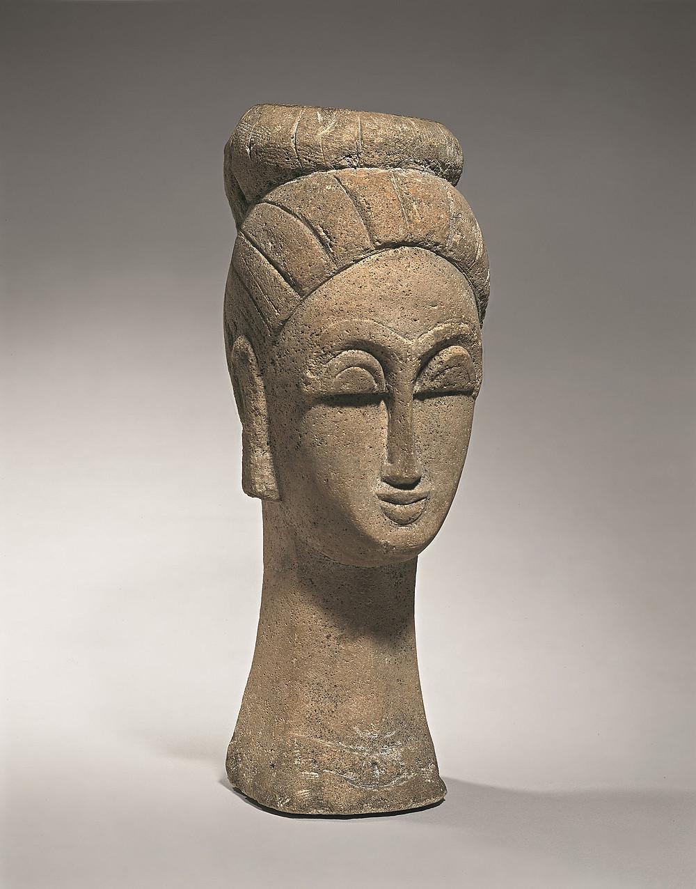 Sculpture of female head