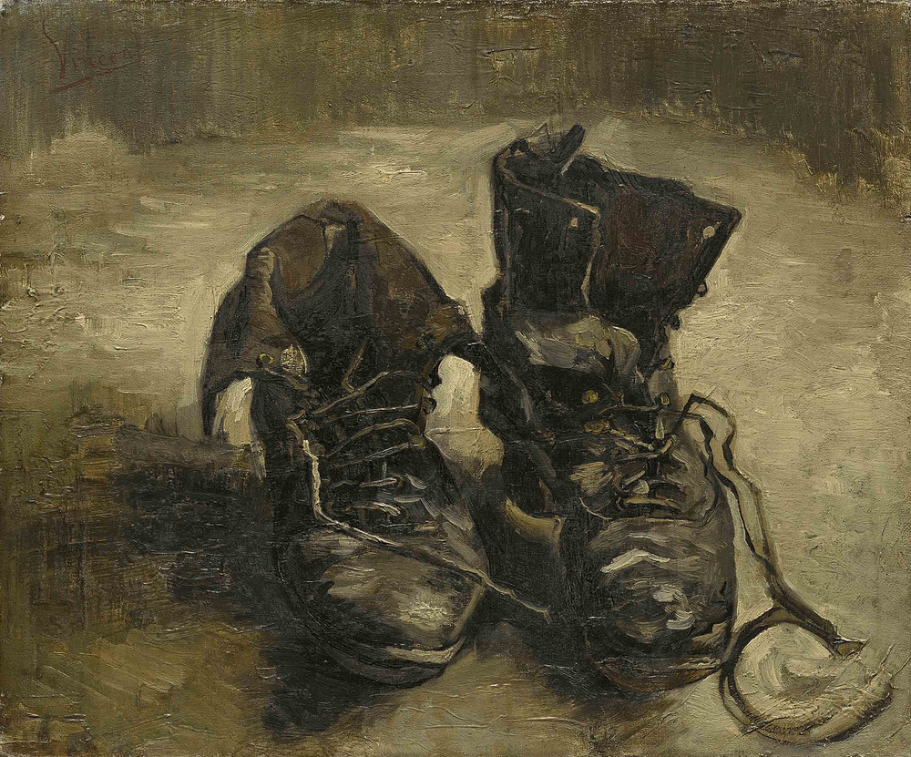 Painting of shoes by Vincent van Gogh