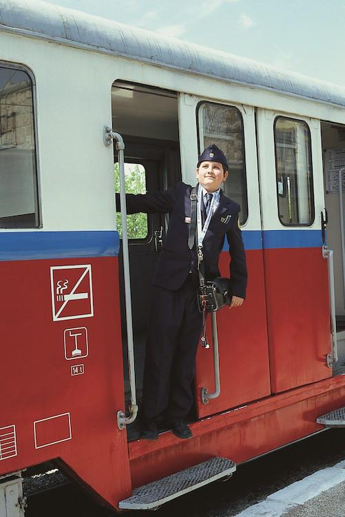 Children staff the Children's railway in Budapest