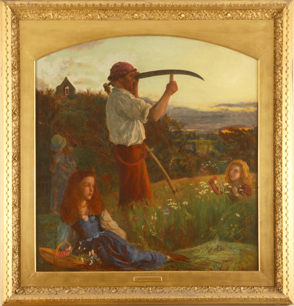 Painting of man with scythe
