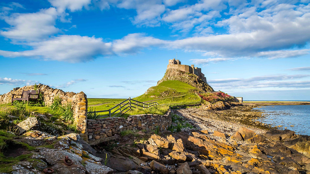View of Lindisfarne Castle on Holy Island