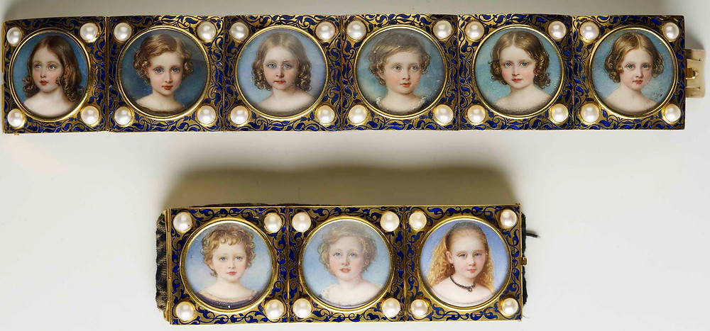 Bracelet with portraits of Victoria and Albert's children