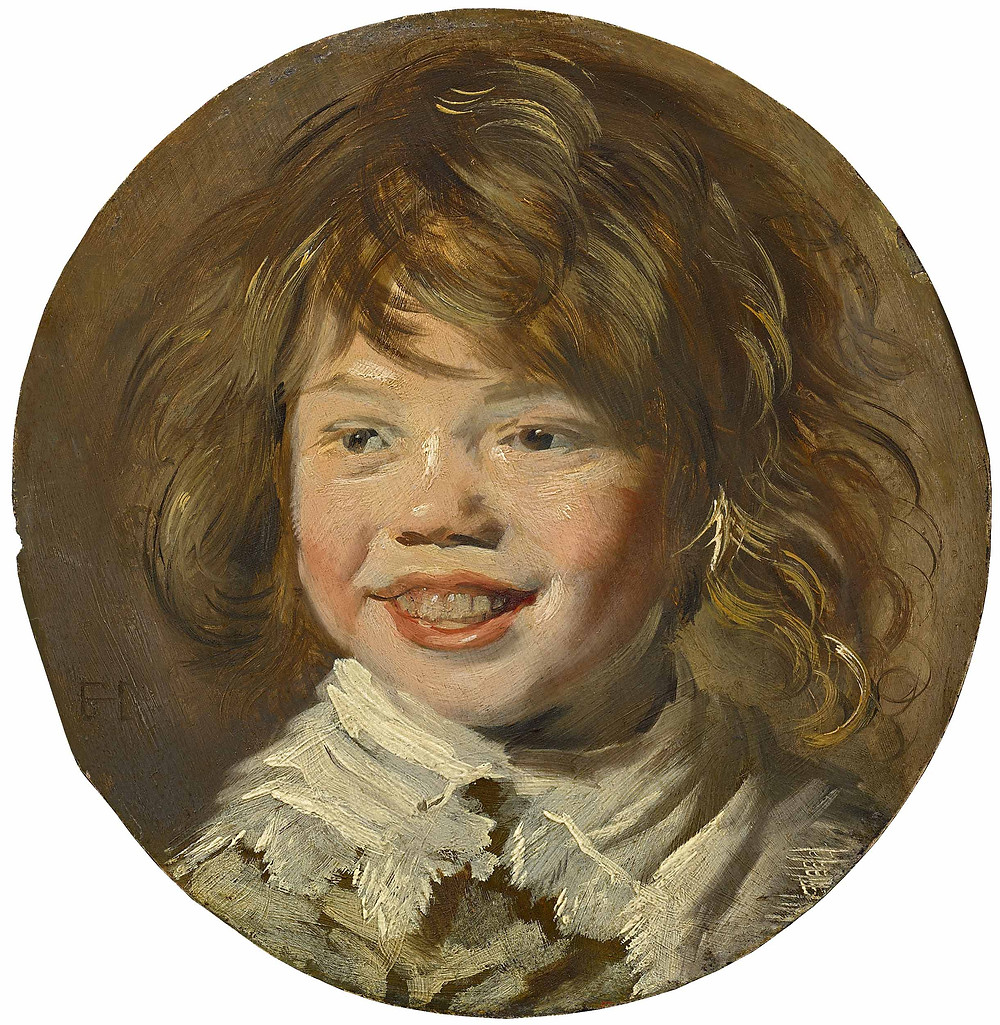 Painting of a smiling child by Frans Hals