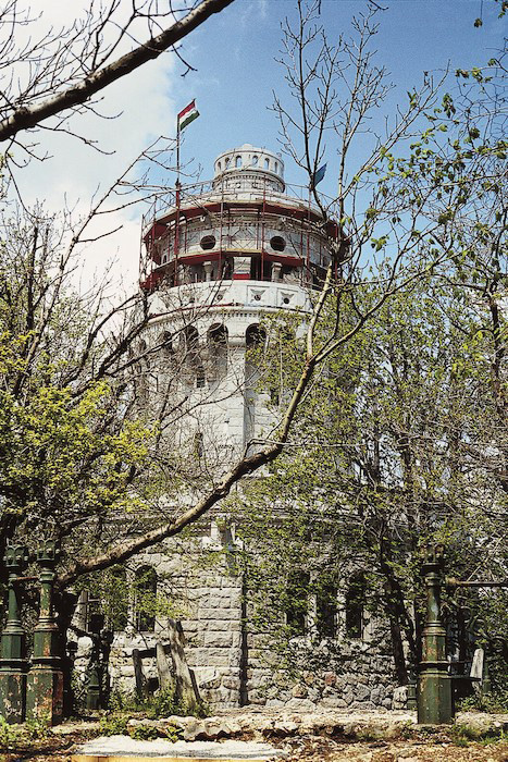 Elisabeth Tower near Budapest is reached by the Children's Railway