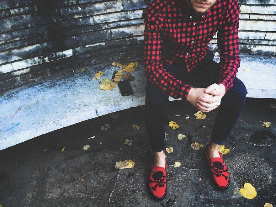 Man Fashion sitting