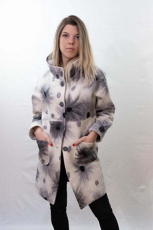 Cappotto in lana bianco