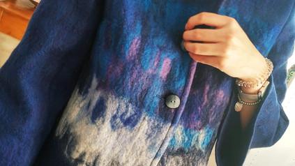 giacca realizzata a mano