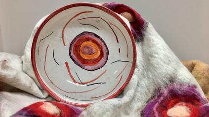 ceramica e tessuti abbinati
