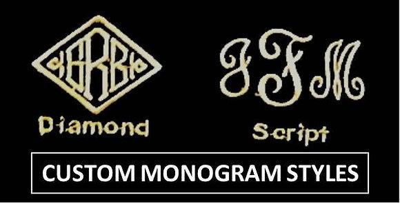 Embroidery Option:  CUSTOM MONOGRAM