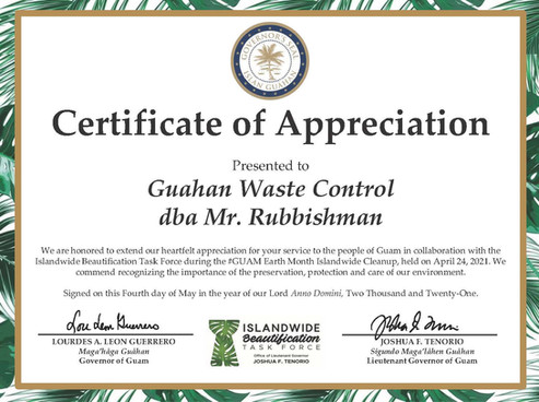 IBTF Certificate_Earth Month Cleanup_Sig