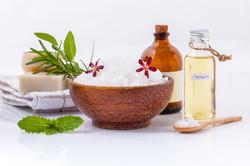 Sea salt natural spa ingredients